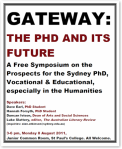 """Gateway: The PhD and its Future"" Poster"