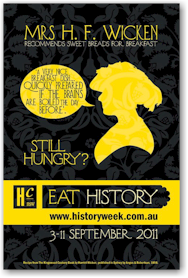 Image of Eat History Poster for History Week 2011